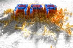 Concept du pixel APP Photographie stock libre de droits
