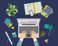 Concept du processus d'éducation sur le lieu de travail Image libre de droits