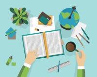 Concept du processus d'éducation sur le lieu de travail Photographie stock libre de droits