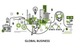 Concept du processus d'affaires globales et du succès de finances dans l'OE illustration libre de droits