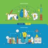 Concept du processus, de l'innovation et de la conception créatifs illustration stock