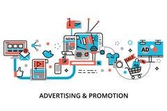 Concept du processus de la publicité, de vente et de promotion Images libres de droits