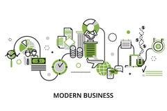 Concept du processus moderne d'affaires illustration stock