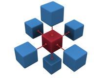 concept du réseau 3D Photos stock