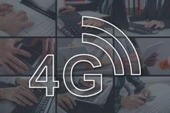Concept du réseau 4g Photographie stock libre de droits