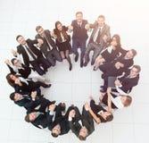 Concept du renforcement d'équipe grande séance réussie d'équipe d'affaires Photo libre de droits