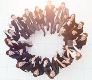 Concept du renforcement d'équipe grande séance réussie d'équipe d'affaires Photographie stock