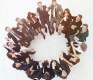 Concept du renforcement d'équipe grande séance réussie d'équipe d'affaires Images stock