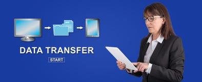 Concept du transfert des données photo libre de droits