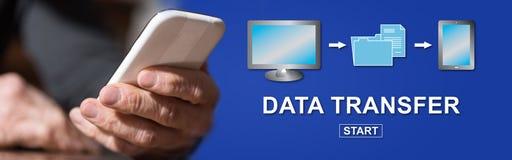 Concept du transfert des données photos stock