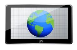 Concept du traqueur 3D du monde de GPS Photo stock