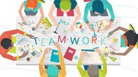 Concept du travail dans l'équipe multiculturelle illustration libre de droits