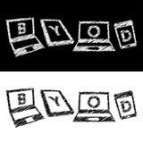 Concept du vecteur 'BYOD' illustration libre de droits