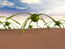 concept du virus 3d Images stock