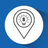 Concept e-commerce idea bulb graphic Royalty Free Stock Photo