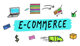 Concept of e-commerce vector illustration