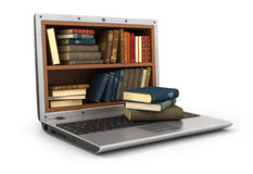 Concept of E-learning education or internet library. Royalty Free Stock Images