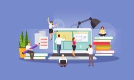 Education online vector royalty free illustration