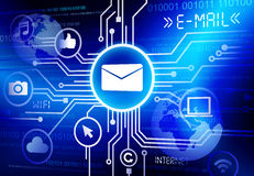Concept of E-mail. As an information medium Royalty Free Stock Images