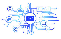 Concept of E-Mail as an information Medium Stock Image