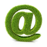 Concept of e-mail symbol covered grass Stock Photo