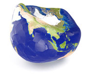 Concept of earth disease Stock Photography