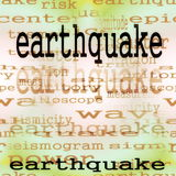 Concept earthquake background Stock Photos