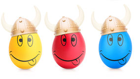 Concept of Easter egg with emotions faces isolated Royalty Free Stock Image