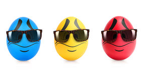 Concept of Easter egg with emotions faces isolated Royalty Free Stock Photo