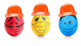 Concept of Easter egg with emotions faces isolated Stock Image