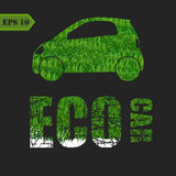 Concept of the eco-friendly car - body surface is Royalty Free Stock Photo