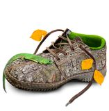 Concept. Eco-friendly shoes. Stock Photo