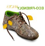 Concept. Eco-friendly shoes. Stock Photos