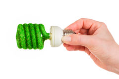 Concept Eco light bulb Stock Image