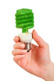 Concept Eco light bulb Royalty Free Stock Photos