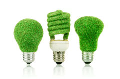 Concept Eco light bulb Stock Photo