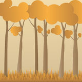 Concept eco paper art design style, tree and grass with nature, Royalty Free Stock Image