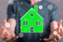 Concept eco vriendschappelijk huis royalty-vrije stock afbeeldingen
