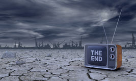 Concept of ecological disaster Stock Photography