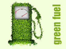 The concept of ecological fuel. Green fuel pump Royalty Free Stock Images