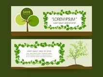 Concept of ecology header or banner design. Stock Photos