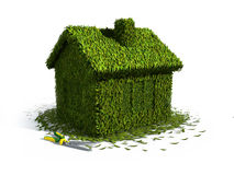 Concept ecology house Stock Photos