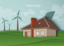 Concept of ecology, renewable energy in the home Stock Photo