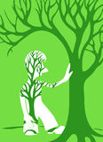 Concept ecology tree. Concept ecology green tree. Vector illustration Royalty Free Stock Images