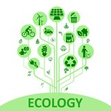 Concept ecology tree - vector vector illustration