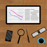 Concept economic analysis. Vector presentation information business illustration Royalty Free Stock Photography