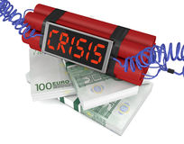 Concept of economic crisis Royalty Free Stock Photo