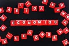 Concept of economics word Stock Images