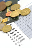 Concept economie en financiën - ondiepe dof Stock Foto's