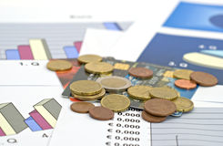 Concept of economy and finance - shallow dof royalty free stock photography